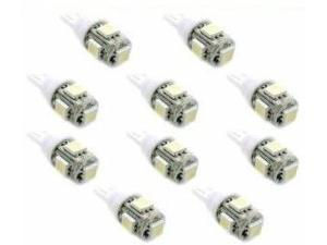 10x 194 168 2825 5-smd White High Power LED Car Lights Bulb
