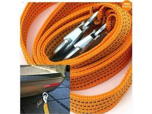 3 Tons Car Tow Cable Towing Strap Rope with Hooks Emergency Heavy Duty 6 FT