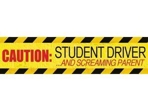 Magnetic Bumper Sticker 'Caution Student Driver and Screaming Parent