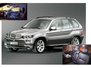 BMW X5 2007-2012 WHITE LED Lights Interior Package Kit M E70 (17 Pieces)