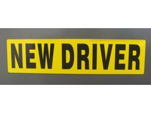 NEW DRIVER Magnet REFLECTIVE Magnetic Vehicle Car Sign
