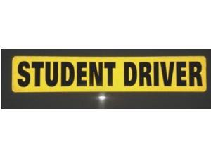 Zone Tech Student Driver Magnet REFLECTIVE Car Sign