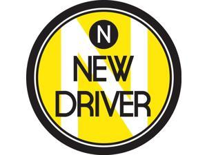 Zone Tech New Driver Round Magnetic Vehicle Car Sign