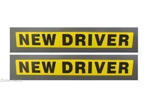 Zone Tech NEW DRIVER Sticker REFLECTIVE Vehicle Car Sign (2 Pk)