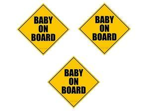 Zone Tech Baby on Board Magnet (3 Pack)