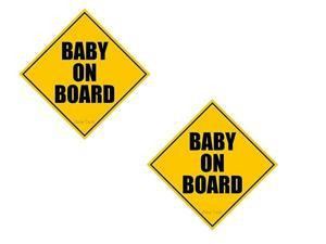 Zone Tech Baby on Board Magnet (2 Pack)