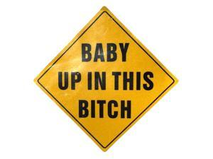Zone Tech Reflective Baby  Funny Bumper Decal Magnet Humorous Baby HEADTURNER!
