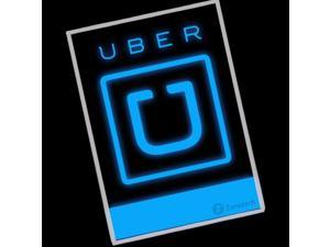 Zone Tech Uber Blue Illuminating Glow Car Vehicle Rideshare Driver Decal Sign