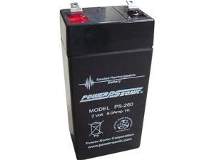Power-Sonic PS-260 Sealed Lead Acid Battery w/ F1 Terminal