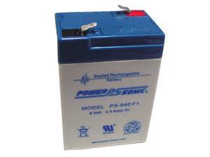 Power-Sonic OEM PS-640 6V/4.5AH Sealed Lead Acid Battery w/ F1 Terminal