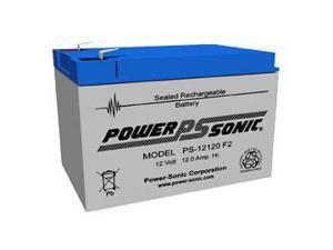 Power-Sonic PS-12120 12V/12AH Sealed Lead Acid Battery w/ F2 Terminal