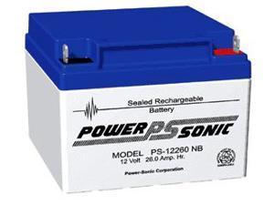 Power-Sonic 12V/26AH Sealed Lead Acid Battery w/ NB Terminal