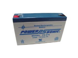 Power-Sonic 6V/7AH Sealed Lead Acid Battery w/ F1 Terminal
