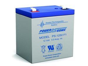 Power-Sonic PS-1250 12V/5Ah Sealed Lead Acid Battery-F1 Terminal