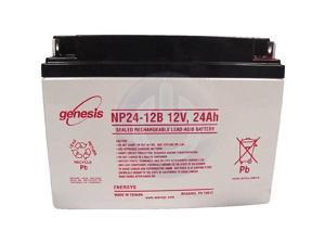 Genesis NP24-12B Sealed Lead Acid Battery - NB Terminals