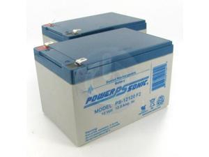 Power-Sonic 2 x PS-12120 12V/12AH Sealed Lead Acid Battery w/ F2 Terminal