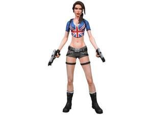 NECA Player Select Exclusive Series 1 Action Figure Lara Croft Union Jack Outfit Variant