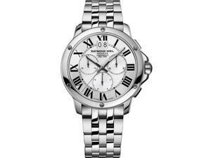 Raymond Weil Tango Chronograph Silver Dial Steel Mens Watch 4891-ST-00650