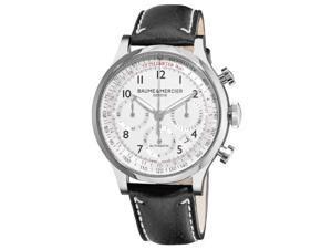 Baume & Mercier Men's 10005 Capeland Chronograph Silver Chronograph Dial Watch