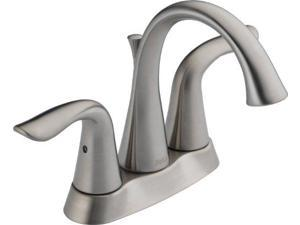 Delta Faucet 2538-SSMPU-DST Lahara Two Handle Centerset Lavatory Faucet, Stainless