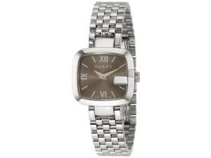 Gucci Brown Dial Stainless Steel Ladies Watch YA125516