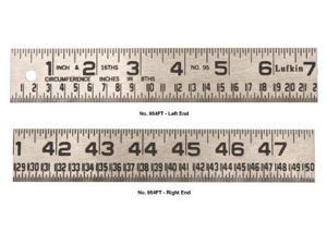 Lufkin 954FT 1-1/4-Inch by 4-Foot Tinner-Foot Steel Circumference Rule