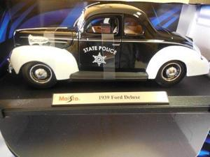 Maisto 1939 Ford Deluxe State Police Car Special Edition 1:18