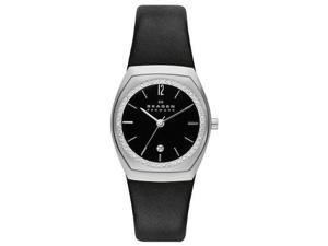 Skagen Klassik Charlotte Three-Hand Leather Watch - Black Skw2119