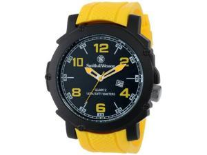 Smith & Wesson Men's SWW-LW6098 EGO Bold Large Black Dial Rubber Band Watch
