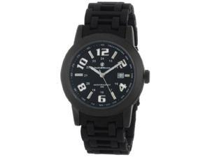 Smith & Wesson Men's SWW-1519 Recoil Black Glowing Dial Plastic Band Watch