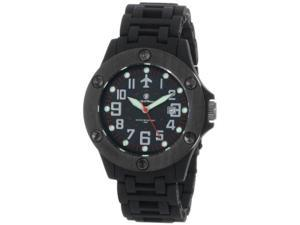 Smith & Wesson Men's SWW-2166 Sentry Black Glowing Dial Plastic Band Watch