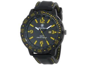 Smith & Wesson Men's SWW-LW6086 EGO Bold Large Black Dial Leather Band Watch