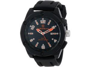 Smith & Wesson Men's SWW-LW6057 EGO Bold Large Black Dial Rubber Band Watch