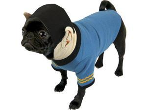 Star Trek Spock Dog Hoodie - Fits any size dog Lrg- Plush Embroidered Ears and Sweatshirt Material