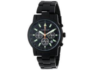 Smith & Wesson Men's SWW-169 Pilot Black Stainless Steel Strap Watch