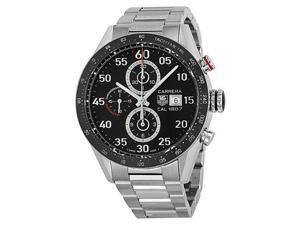 Tag Heuer Carrera Black Dial Steel Chronograph Mens Watch CAR2A10.BA0799