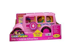 Pink Lil' Movers School Bus Little People by Fisher-Price