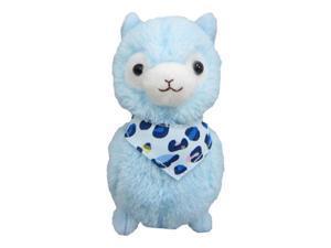 Llama Bandana Alpaca 12 inches Prime Plush (Blue)