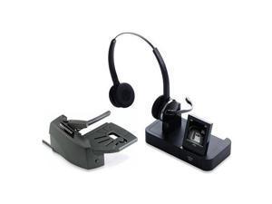 Jabra PRO 9460 Duo Flex Wireless Headset & Lifter Safe Tone Tech w/ DSP Sound