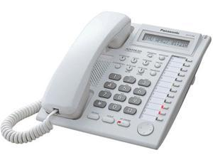Panasonic KX-T7730WX Hybrid System Corded Telephone W/ 1-LineBacklit LCD Display And 12 Programmable Line Buttons