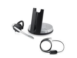 Jabra GN9350E DECT 6.0 DSP Single Earpiece Office Headset W/ Noise-Canceling