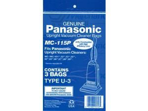Panasonic MC-115P  Upright Vacuum Bags(3 pack)