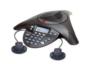 Polycom 2200-07800-160 w/ EX Mics SoundStation2W Expandable DECT 6.0 Conference Phone