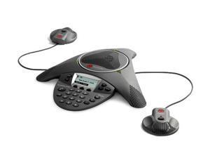 Polycom 2200-15660-001 w/ EX Mics SoundStation IP 6000 Conference Phone