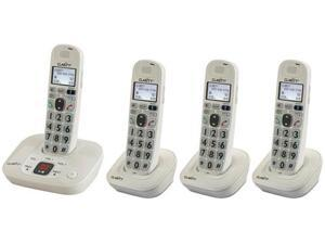 Clarity D712 + (3) D702HS D712 Amplified Cordless Big Button Phone w/Answering Machine