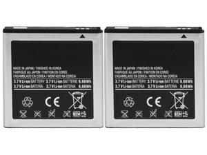 New Replacment Battery for Samsung GALAXY S2 Virgin Mobile (2 Pack)