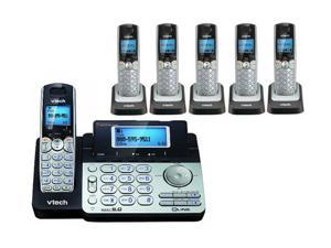 VTech DS6151 + (5) DS6101 2 Line Expandable cordless phone