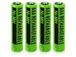 New Replacement Battery For Panasonic NiMH AAA Cordless Phones 4 Pack