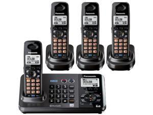 Panasonic KX-TG9384T 2-Line DECT 6.0 Cordless Phone w/ Extra Handset