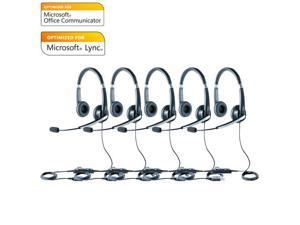 Jabra Voice 550 Duo MS Headset Optimized For Microsoft Office Communicator 2010 (5-Pack)